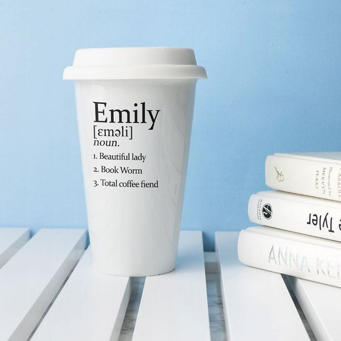 Personalised Definition Ceramic Travel Mug | Personalised Gifts | The Present Season